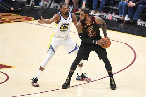 Durant and LeBron in action