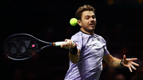Stan Wawrinka at the Rotterdam Open