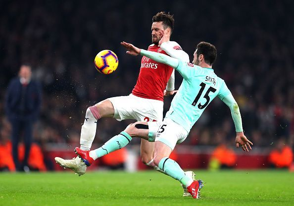 Carl Jenkinson caused the Cherries lots of problems down the left hand side.