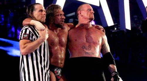 Triple H, Shawn Michaels, and The Undertaker