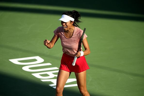 Hsieh Su-wei at Dubai Duty-Free Tennis Championships - Day Five