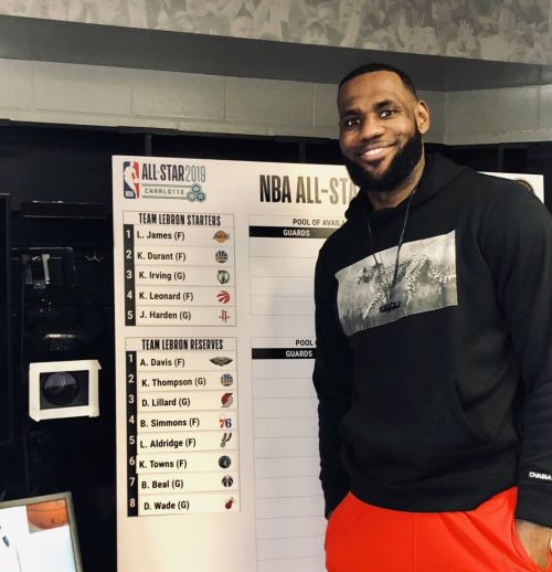 This is LeBron James' 15th All-Star appearance of his career.