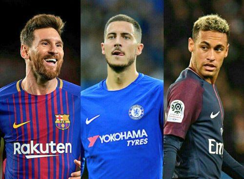 Messi, Hazard, and Neymar