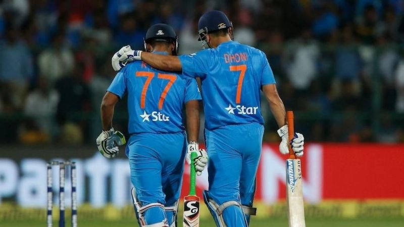 Rishab Phant And Dhoni Rohit Sharma