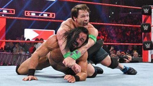 John Cena and Drew McIntyre in action