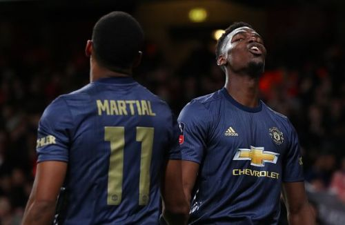 The Manchester United French duo is expected start against Leicester City