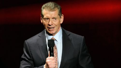 Vince McMahon addressing a crowd