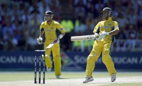 Ricky Ponting of Australia in action at the 2003 World Cup