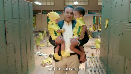 Screen grab of the ad featuring Virender Sehwag