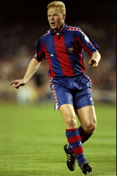 Ronald Koeman in the famous Blaugrana colors