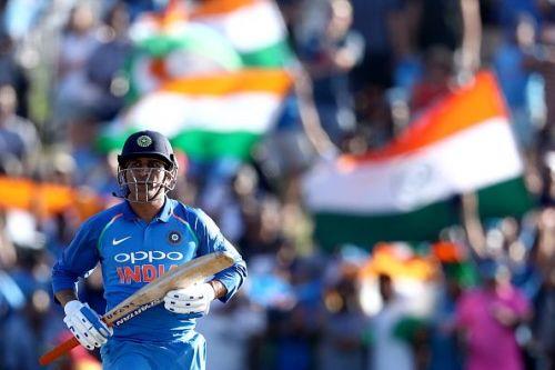 Mahendra Singh Dhoni during New Zealand v India - ODI Game 2