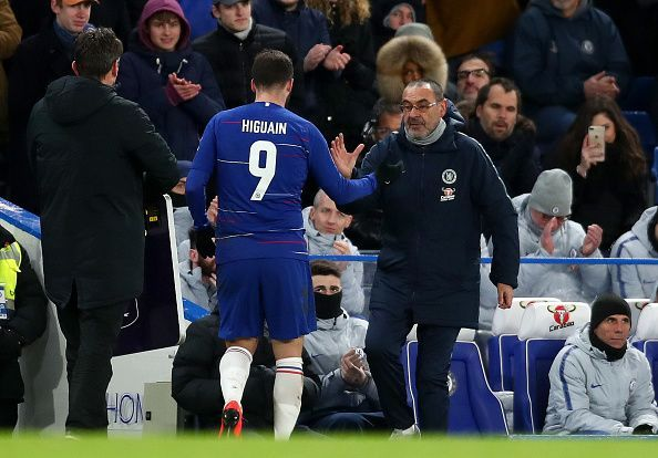 Sarri and Gonzalo Higuain look to reignite their relationship at Chelsea