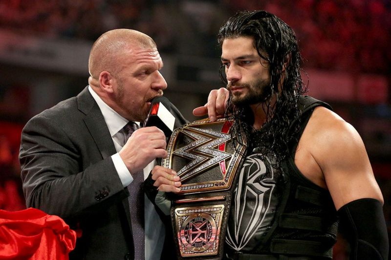 Image result for roman reigns and triple h