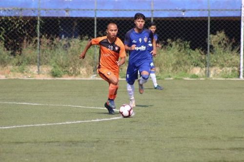 Action from the South United v Chennaiyin FC 'B' match