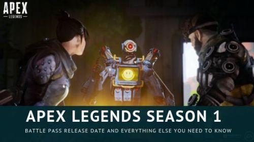 Apex Legends Season 1 Battle Pass Release Date is nearer