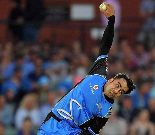 This is Rashid Khan's leg-spinning delivery from the back of the hand