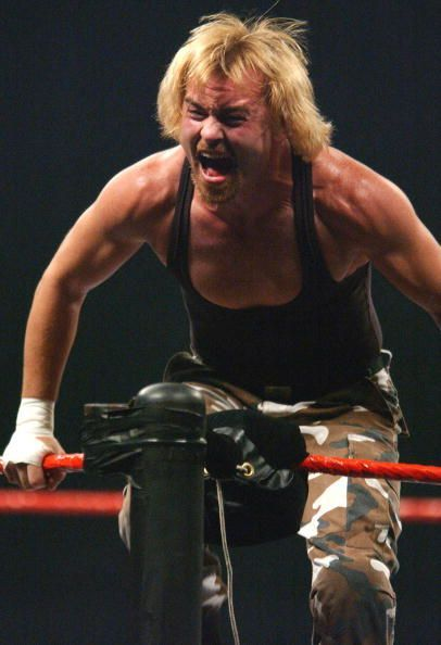 Spike Dudley celebrates his victor