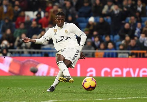 Vinícius Júnior scored against Deportivo Alavés on Sunday