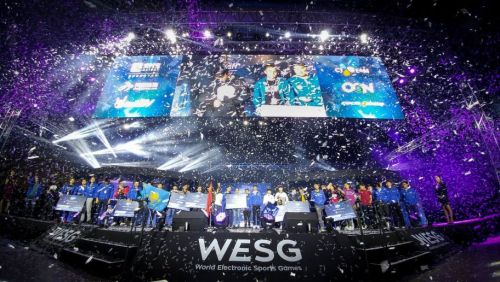 A still from last year's WESG Finals.