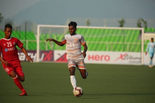 Romario in action for Chennai City FC.