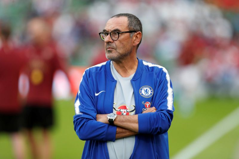 Maurizio Sarri is having a mixed season at Chelsea