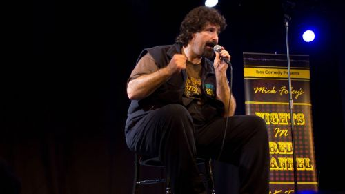 Mick Foley doing his comedy act