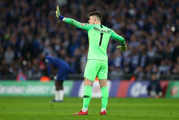 Kepa kicked up a storm when he refused to come off against Man City.
