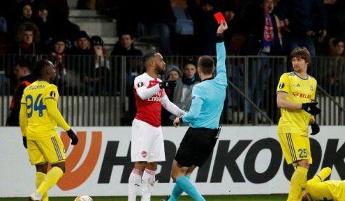 Arsenal lost 1-0 away to BATE Borisov in the Europa League