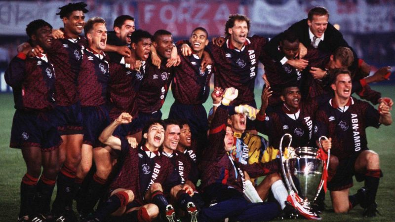 Beloved by neutrals, Ajax won the trophy in 1994/95