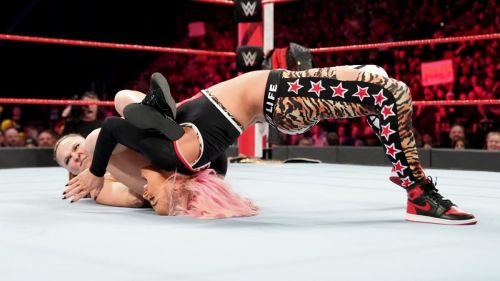 The match ended quickly with the submission