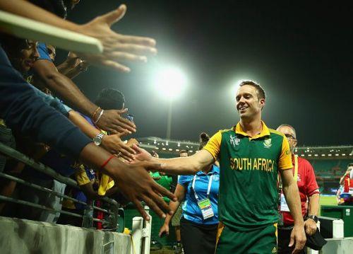 Ab de Villiers after the World Cup quarter-finals against Sri Lanka