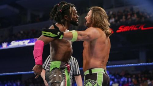 A fired-up Kofi tells Styles to fight him after AJ told Kingston that he didn't have to continue.