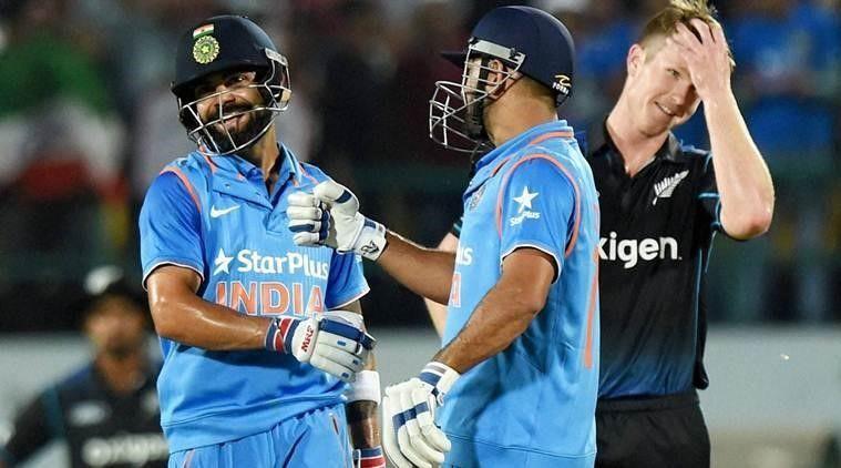 Kohli after hitting a boundary