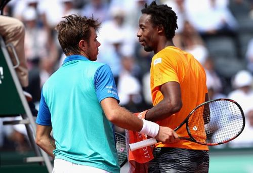 Wawrinka and Monfils at 2017 French Open - Day Nine