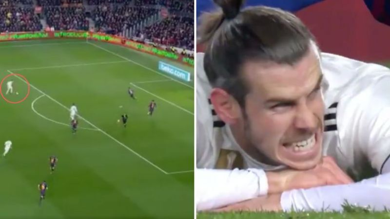 Real Madrid fans have hit out at Gareth Bale for missing an open net against Barcelona