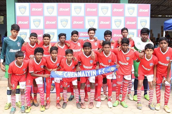 Participants of the Boost Chennaiyin FC Football Championship