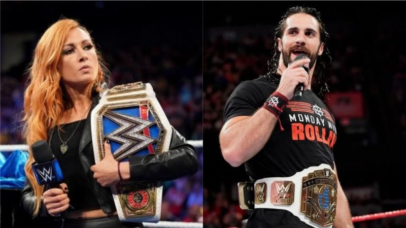 Seth Rollins (right) has taken a shot at Becky Lynch