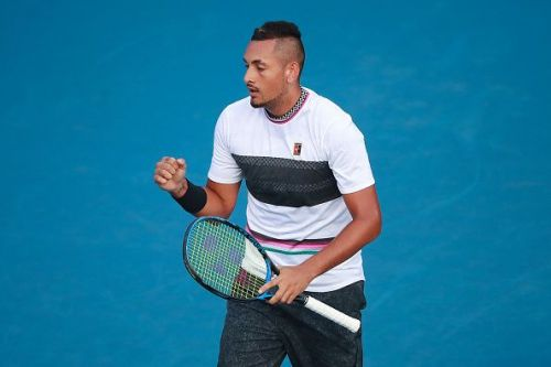 Kyrgios at Telcel ATP Mexican Open 2019 - Day 2