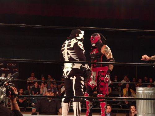 A Lunatic and a hardcore luchador walk into a bar