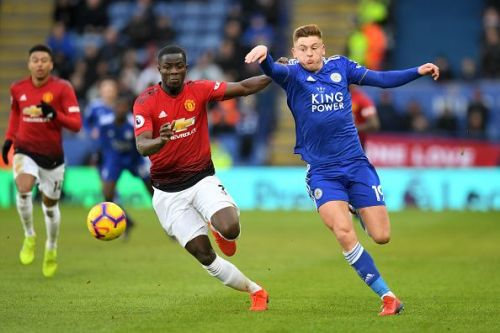 Eric Bailly in action against Leicester City
