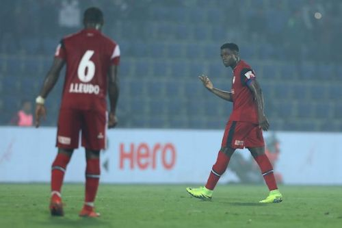 Ogbeche didn't have a great day at the office today despite scoring the equaliser (Image Courtesy: ISL)