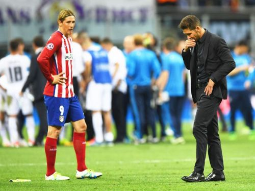 Simeone looks dejected as the CL trophy eludes him again