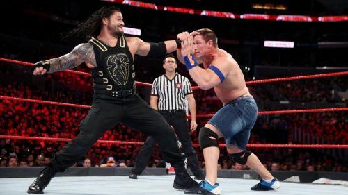 Roman Reigns beats down John Cena