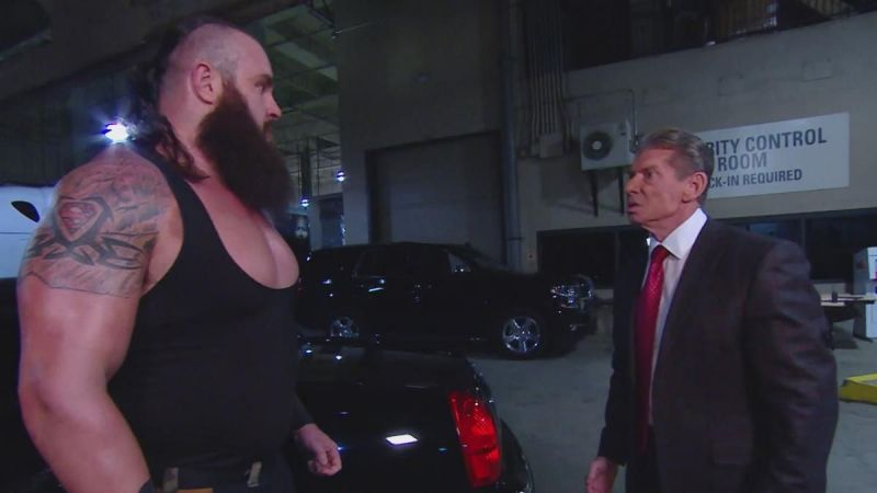 Strowman was stripped of his title shot by Vince McMahon