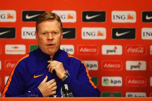 Koeman at a press conference