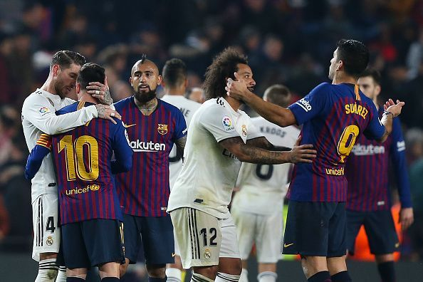 FC Barcelona and Real Madrid tied 1-1 in the Copa del Rey semifinal first leg