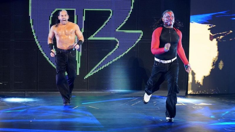 Matt Hardy made a surprise return to team up with his brother Jeff last night