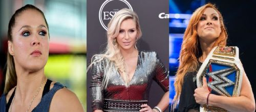 Charlotte Flair should not be between Ronda Rousey and Becky Lynch