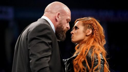 Becky Lynch doesn't back down from anyone, not even WWE COO Triple H.