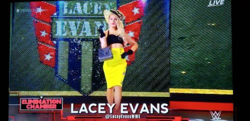 Why did Lacey Evans come out only to go back?
